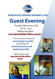Flyer for guest evening
